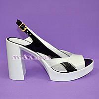 Женские лаковые босоножки на высоком каблуке, фото 1