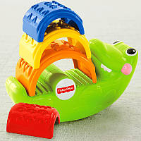 Fisher Price Пирамидка Крокодил Small crocodile Stacked blocks educational