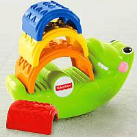Fisher Price Пирамидка Крокодил Small crocodile Stacked blocks educational, фото 1