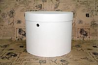 Белая шляпная коробка D25 * H20