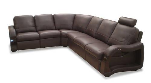 Стильный угловой диван в коже ARTE 3/2 (315см-255см)
