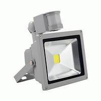 LED прожектор Slim 10Вт 6200К с датчиком движения, фото 1