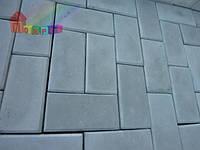 Плитка тротуарная Кирпич cерая 40х100х200 (2000000001319)