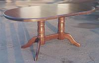 Дубовый стол Наполеон деревянный, раскладной, темный орех