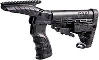 Обвес тактический CAA для Rem870 (комплект оборудованый пистолетной рукояткой, план ц:черный
