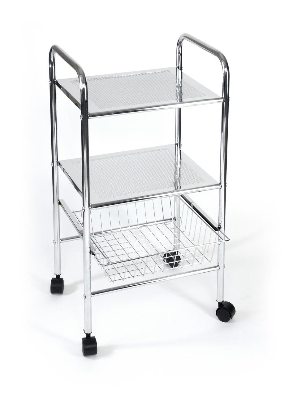 Етажерка для ванної 3 ярусне (2 полиці, 1 кошик) AWD02040022