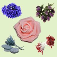 Цветочки, Тычинки, Веточки, Ягодки для декора и рукоделия