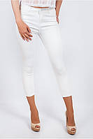 Модные женские брюки по фигуре укороченной длины белые, молочные