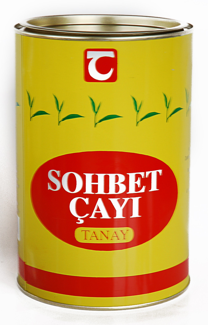 """Чай чёрный крупнолистовой с бергамотом Tanay """"SOHBET CAY"""" 500 г"""