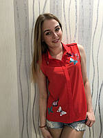 Красивая блузочка с бабочками, фото 1