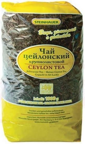 """Чай чёрный крупнолистовой STEINHAUER """"Цейлонский"""" 1000 г"""
