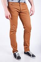 Стильные мужские джинсы прямого кроя голубые, кофейные, песочные, темно-синие, терракотовые