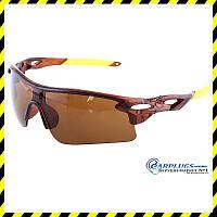 Очки для стрельбы с коричневыми линзами, UV400 защита.