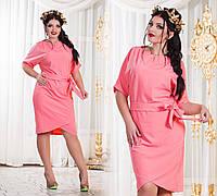 """Элегантное женское платье в больших размерах 009 """"Бутон Подвеска"""" в расцветках"""