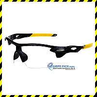 Очки для стрельбы  с прозрачными линзами (жёлтые вставки), UV400.