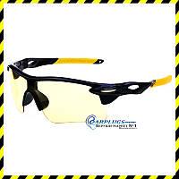 Очки для стрельбы  с жёлтыми  линзами (жёлтые вставки), UV400 защита.