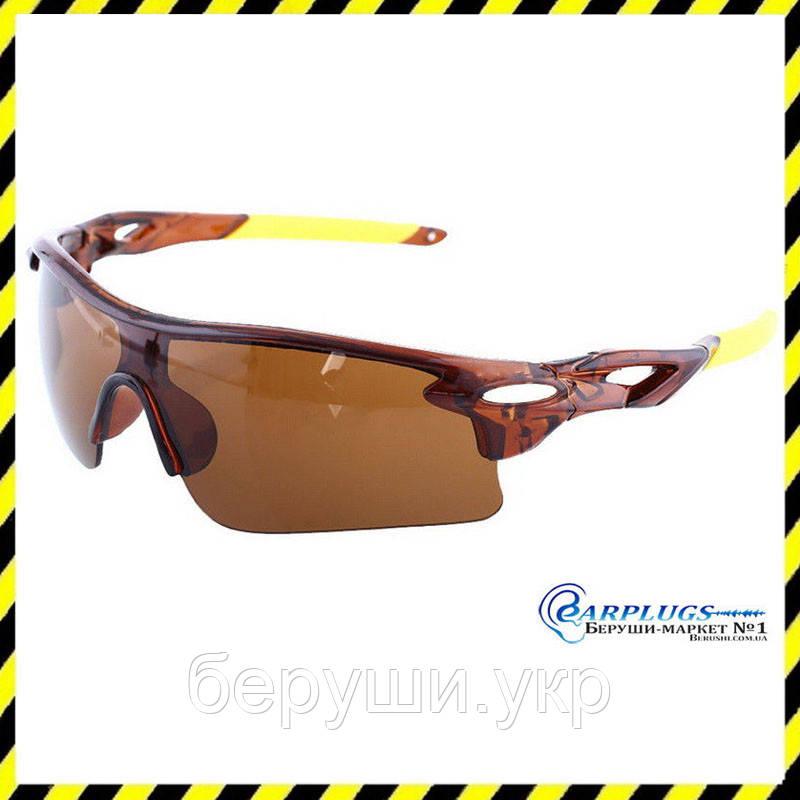 Очки защитные с коричневыми линзами, UV400 защита.