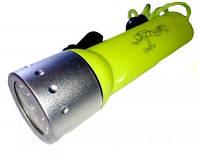 Светодиодный фонарь для подводной охоты QX-1 Original, LED Cree Q5, 800 W, глубина 50 м, ремешок на руку