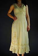 Льняной женский сарафан
