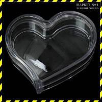 """Футляр, контейнер для зберігання """"Сердечко"""" 3.1х2.5х1.8 див., фото 1"""