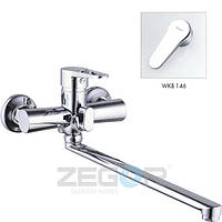 ZEGOR Z63-PUD7-A-146 Смес ванна евро  длин плос гусак