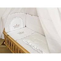 """Детское постельное белье в кроватку """"Вышивка Корона"""""""