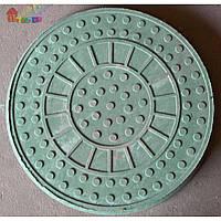 Люк канализационный ПП до 1,5 т. круглый зеленый (2000000045207)