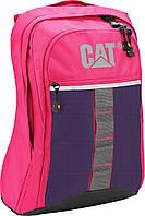 """Впечатляющий городской рюкзак с отделением для ноутбука 15.6"""" CAT 82557;186, розовый, 17 л."""
