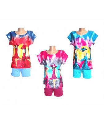 Комплект женский футболка+шорты р.42-56