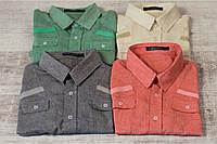 Мужская льняная модная рубашка 12П1701