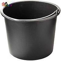 Ведро строительное пластмасовое мерное (12л) (черное)105-001