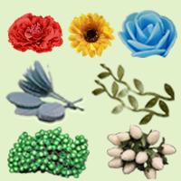 Цветочки, Листики, Ягодки, Калина