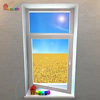 Окно одностворчатое с фрамугой REHAU Euro-Design 86 (2000000078205)
