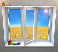 Трехстворчатое окно на 1 створку Rehau Geneo (2000000078908)