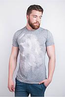 Потрясающая мужская футболка с морским принтом песочно-морская