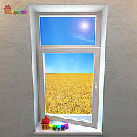 Окно одностворчатое с фрамугой Rehau Basic - Design (2000000079004)