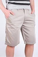 Модные мужские шорты классического кроя светло-серые, темно-синие