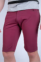 Молодежные мужские шорты из натурального материала бордовые, горчичные, зеленые, синие