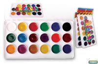 Медовая акварель 18 цветов Люкс Колор в прозрачной упаковке (072)