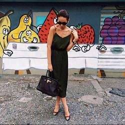 Платье комбинация ниже колена