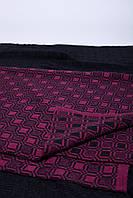 Жаккардовый шерстяной плед 3034 пурпурный/антрацыт
