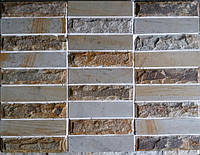 Плитка комбинированная, рустованная/шлифованная 65х250х15