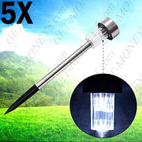 Садовые светильники на солнечных батареях Expert  S127  ( в наборе 5 шт.)