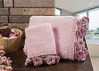 Полотенце махровое для лица Cherie Pink 50*90.