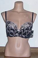 Бюстгальтер Diorella черный-белый, чашка С (арт. 421)