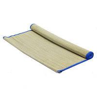 Пляжный коврик HZT/07, соломенный, фольга, 165-75см, цветная окантовка по периметру