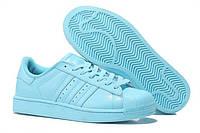 Кроссовки женские Adidas Superstar Supercolor PW Clear Sky, кроссовки адидас суперстар суперколор голубые