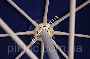 Большой зонт 3,5м торговый, круглый с клапаном. Усиленный, уличный. Плотная ткань. Зонт для торговли на улице, фото 2