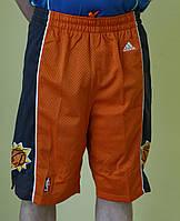 Мужские шорты баскетбольные Adidas (5617) оранжевые код 01-25