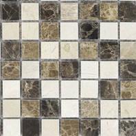 Мозаика из мрамора смесь коричневых цветов Vivacer SPT020